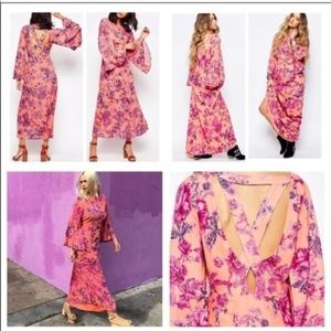 NEW Free People Melrose Floral Bell Sleeve Dress